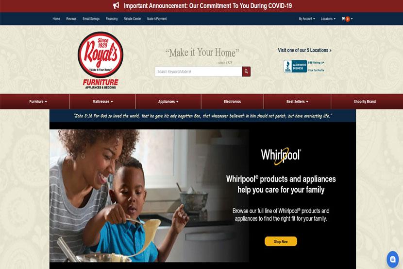 Royal's website